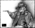 Reuben J. Cogburn, Ink (True Grit) by taylorweaved