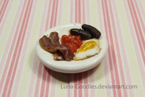 Miniature Breakfast Plate by Luna-Goodies