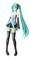 Miku Render with effects by caseygibson