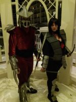 Shredder and Karai by syckles