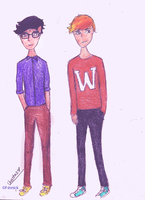 Hipster Boys by f-innick