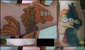 matt groening tattoos by elph