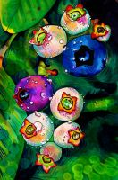 Budding Blueberries by PaintMyWorldRainbow