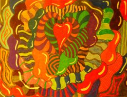 Psychedelic Pserpents 2 by Cecilia-Schmitt