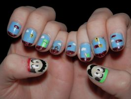 Mario nails by JennyBean4u