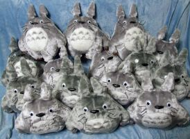 Bunch of Totoros XD by Rens-twin