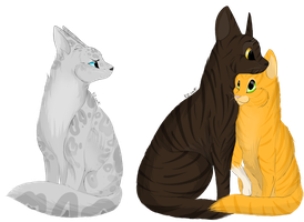 Brambleclaw,  Squirrelflight and  Ashfur by KZcat