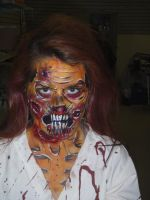 Zombie Face paint by dragonhuntr