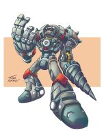 Metal Giant The Full Metal Drill by thiagospyked