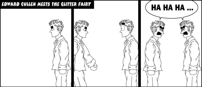 Edward meets The Glitter Fairy by pippin1178