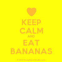 KEEP CALM AND EAT BANANAS by L-Kagamine02