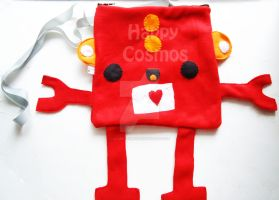 Love Robot Bag by CosmiCosmos