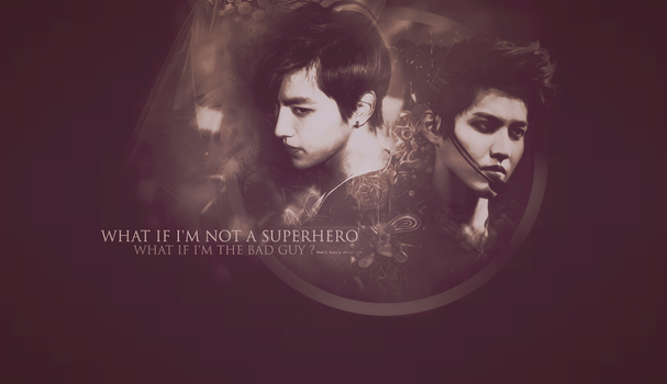 The bad guy or superhero? Kris from Exo wallpaper. by Narnia18