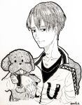 Viktor and poodle by B-lu-B