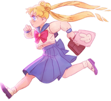 sailor moon to the rescue by dorkybeans