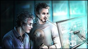 Tony Stark and Bruce Banner - Science Bros by VoydKessler