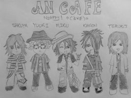 Antic Cafe chibi style by ravenkhaw