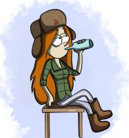 Gravity Falls - Wendy - Russia by Dubov0