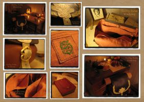 Hobbit's leather back pack(inspired Bilbo Baggins) by Svetliy-Sudar