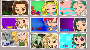 Harvest Moon DS Stamp Collab. by Vulpixtwo