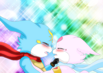 DxVeemonXLovemon almost kiss by HeroHeart001