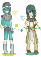 MFB+OC: Clothes change - Kyouya+Karen by Shichiro-chan