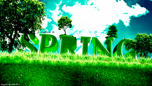 Spring Typo Art by as3aaD