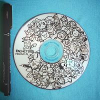 doodling on a CD by demeters