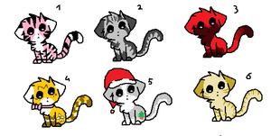 Moar Adoptables by Larkflame