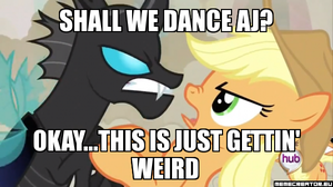 Applejack and Changeling Meme by Pikachu25sci95vt
