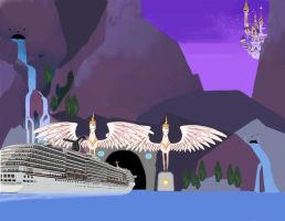 Carnival Pride's first voyage to Canterlot by OceanRailroader