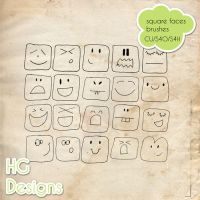 Square Faces Brushes by HGGraphicDesigns