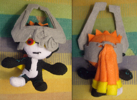 Midna Plushie with Mask by Ferngirl