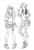 MH - Cece and Kari Schools' Out + commissions by Grudge-Glamorous