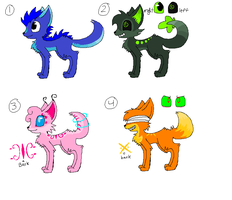 adoptables batch 1 :UPDATE: by ToxicPeaches