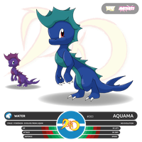 Pokemon Dyko - Aquama by BlackySpyro