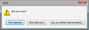 Error Message: Crazy Question by Addicted-Squared