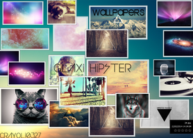 WALLPAPERS  .  GALAXI HIPSTERS by Crayoli0327