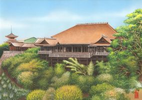 KIYOMIZU TEMPLE_KYTO JAPAN by toniart57