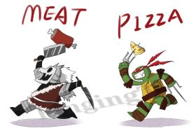 meat and pizza by RingingT
