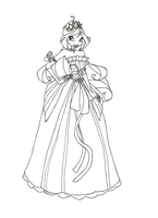 Winx Club Ball Gown Bloom Coloring Page by winxmagic237