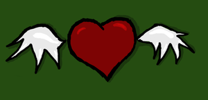 A heart with wings by Lynnae-Madison