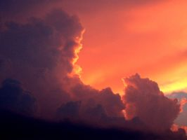 Sun red clouds by hookahbill