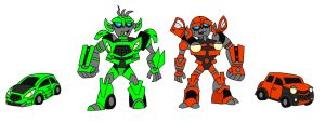 Animated Skids and Mudflap by AleximusPrime