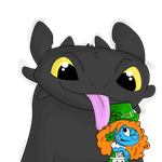 Gift: Shamrette and Toothless by RadSpyro