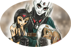 + Quan Chi and his Angels + by CathrieWarehouse