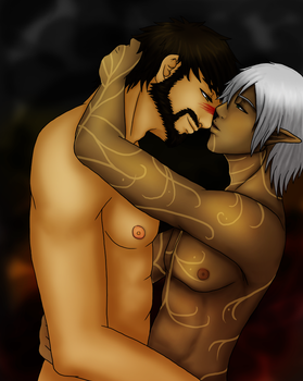 Fenris and Hawke - color by ryuchan