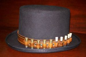 Steampunk Bullet_Vial Hatband by Steampunked-Out