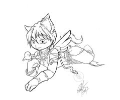 Quatre mage kittyinks by Bee-chan