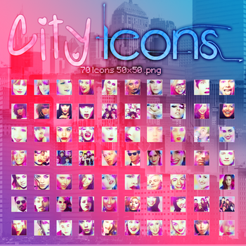 70 Iconos para dA // 50x50 by Luu-Smiler